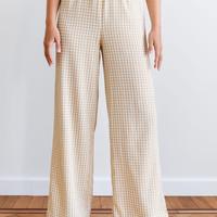 Isah Checkered Trousers Yellow