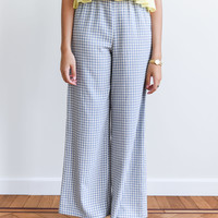 Isah Checkered Trousers Blue