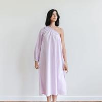 One-Sleeve Maxi Dress Lilac