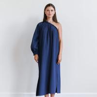 One-Sleeve Maxi Dress Navy