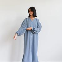 Checkered Krissy Dress Blue