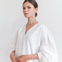 Krissy V-Neck Dress White
