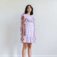 Ruffle Mini Dress Lilac
