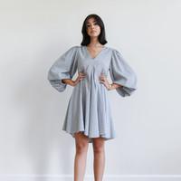 Checkered Isah Dress Blue