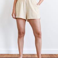 Checkered Shorts Yellow