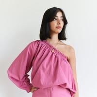 One-Sleeve Dark Pink