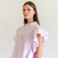 Pippa Ruffle Top Lilac
