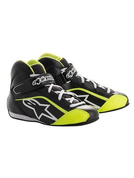 Alpinestars Tech-1 KS Shoe Junior Black/White/Yellow Fluo