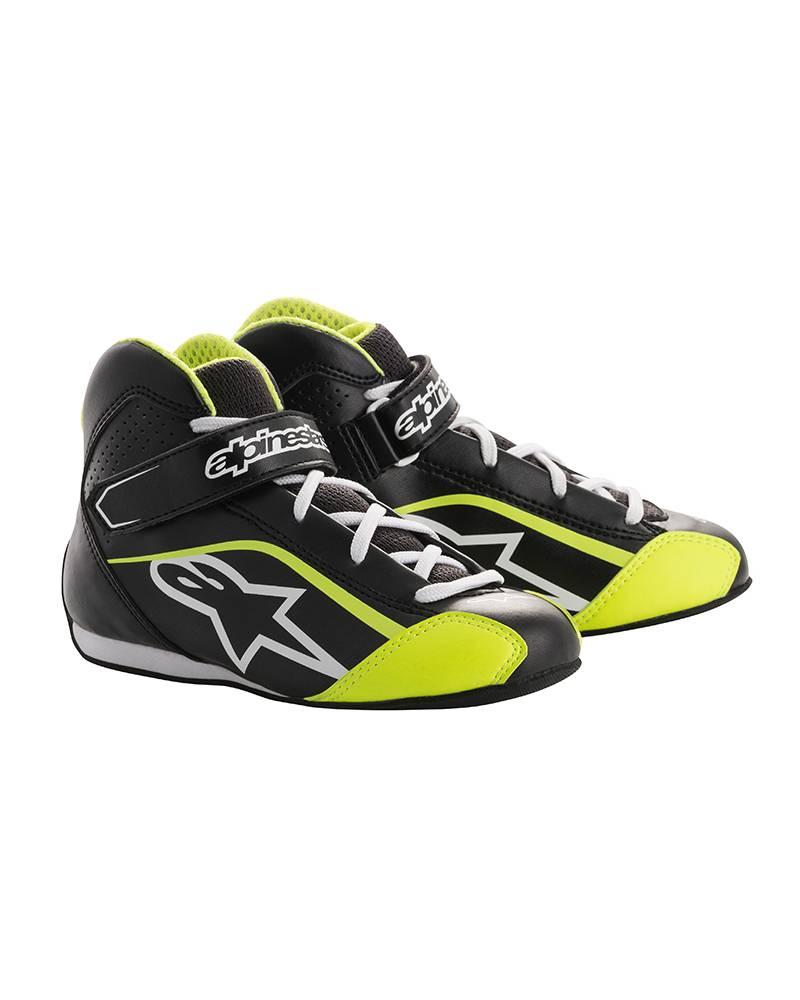 Alpinestars Tech-1 KS Shoe Junior Schwarz/Weiß/Fluo Gelb