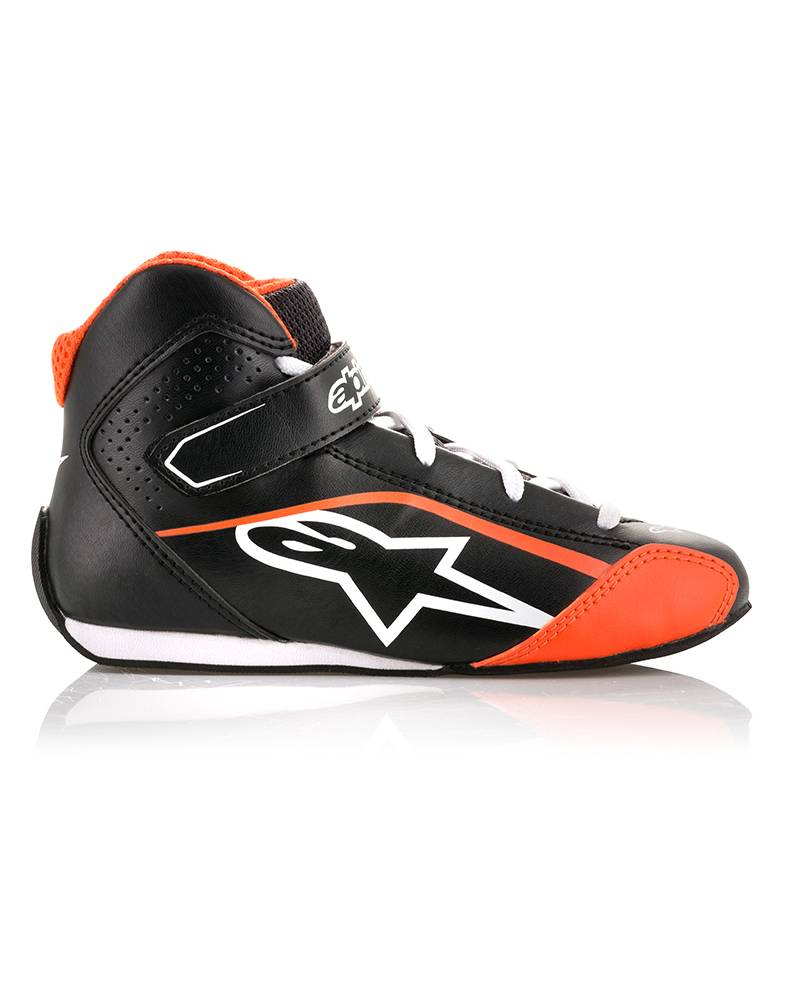 Alpinestars Tech-1 KS Shoe Junior Black/White/Orange/Fluo