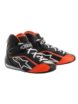 Alpinestars Tech-1 KS Shoe Junior Schwarz/Weiß/Fluo Orange
