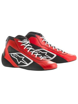 Alpinestars Tech-1 K Start Shoe Rot/Schwarz/Weiß