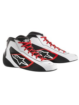 Alpinestars Tech-1 K Start Shoe Weiß/Schwarz/Rood