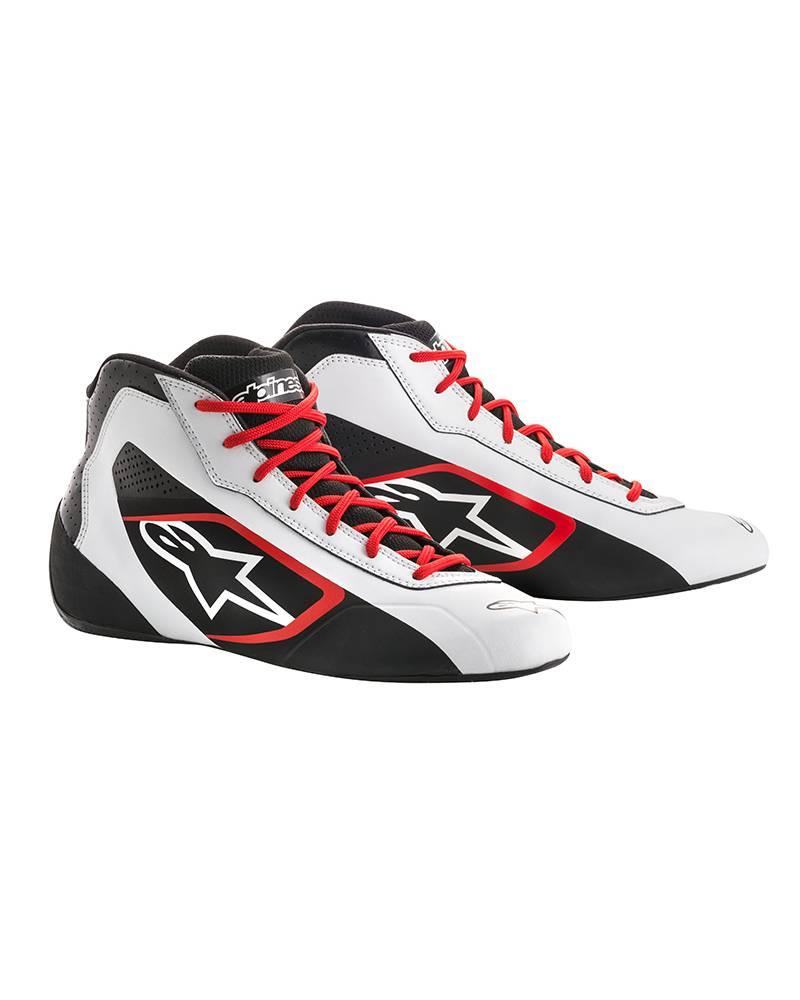 Alpinestars Tech-1 K Start Shoe Blanc/Noir/Rouge