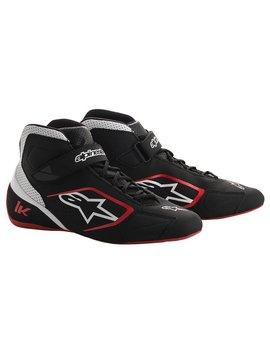 Alpinestars Tech-1 K Chaussures Noir/Blanc/Rouge