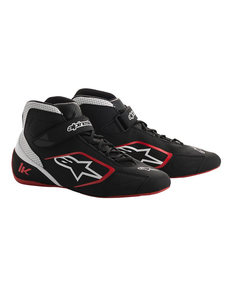 Alpinestars Tech-1 K Schuhe Schwarz/Weiß/Rot