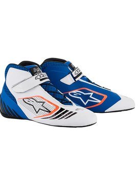 Alpinestars Tech-1 KX Schoenen Blauw/Wit/Fluo Orange