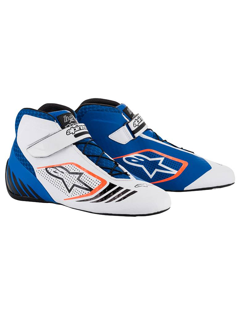 Alpinestars Tech-1 KX Shoes Blue/White/Orange Fluo