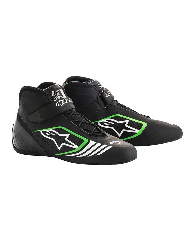 Alpinestars Tech-1 KX Shoes Black/Green Fluo