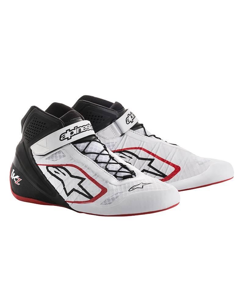 Alpinestars Tech-1 KZ Chaussures Blanc/Noir/Rouge