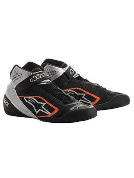 Alpinestars Tech-1 KZ Chaussures Noir/Silver/Orange Fluo