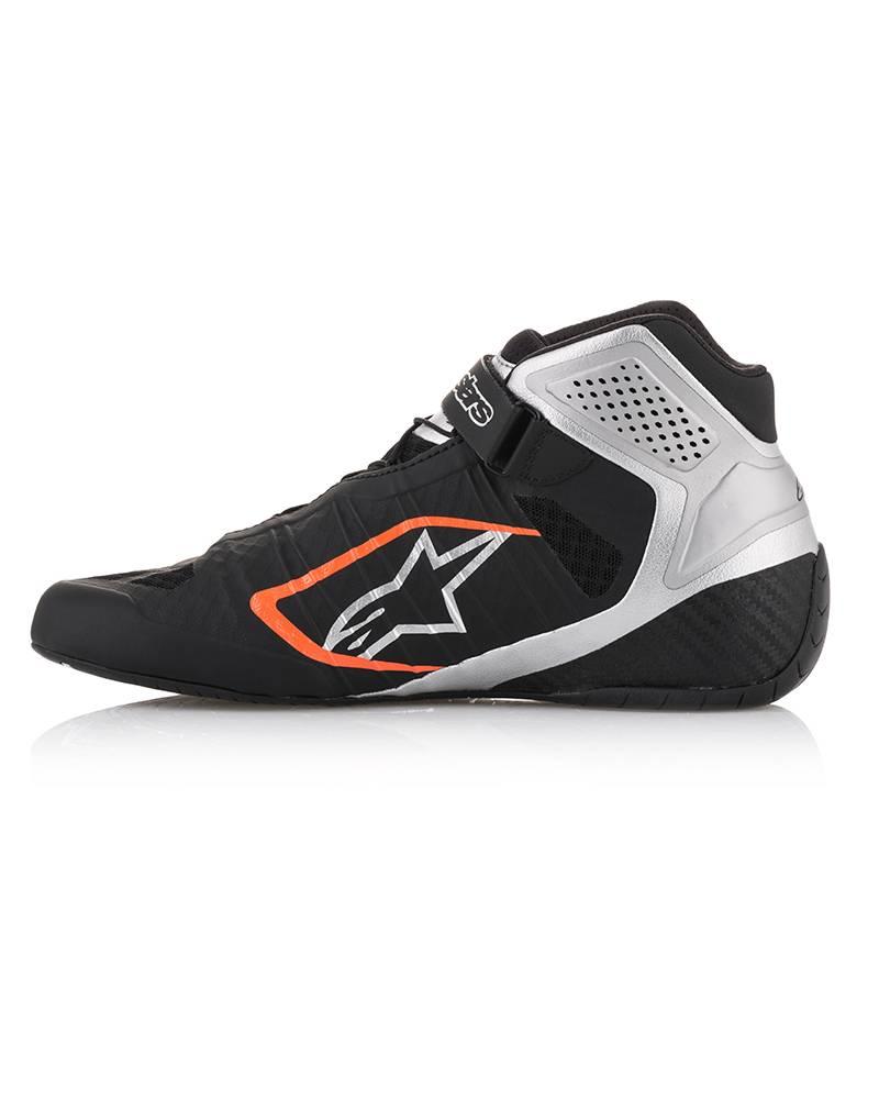Alpinestars Tech-1 KZ Schoenen Zwart/Silver/Fluo Orange