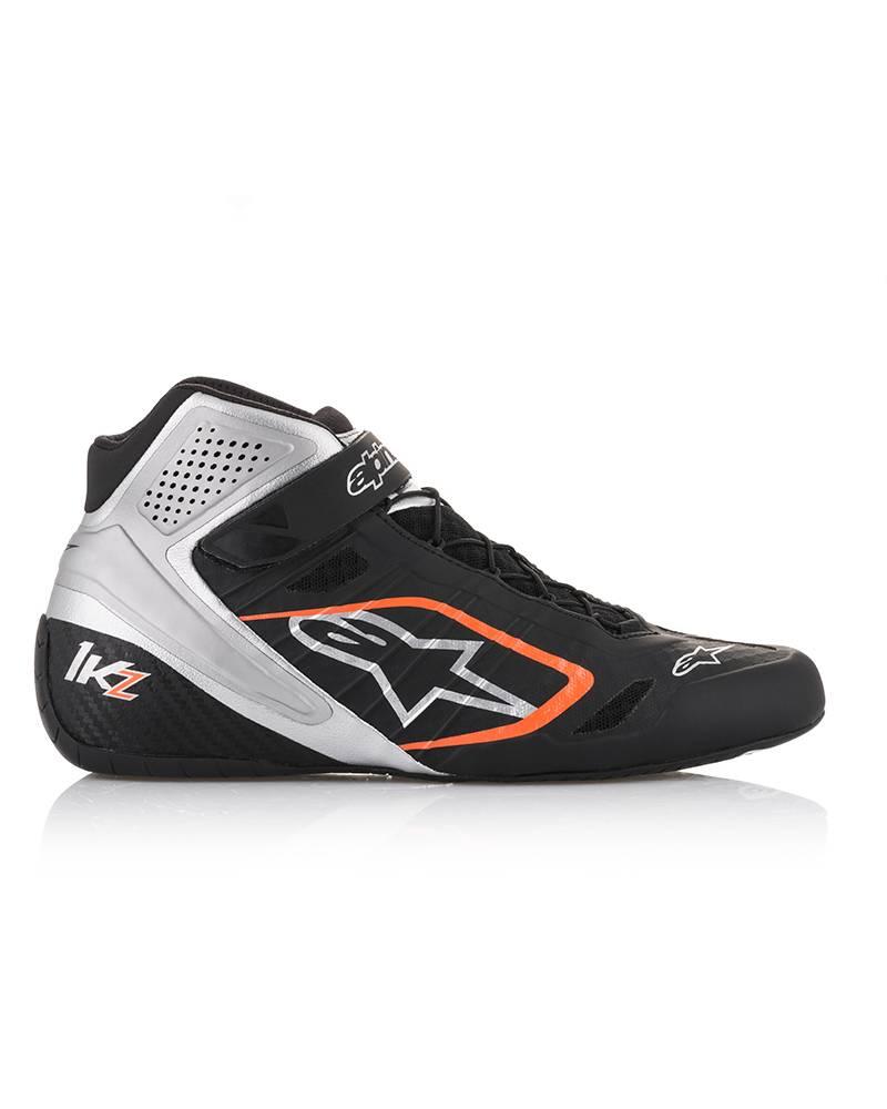 Alpinestars Tech-1 KZ Shoes Black/Silver/Orange/Fluo