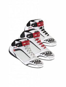 OMP KS-2  Chaussures Blanc Noir Rouge