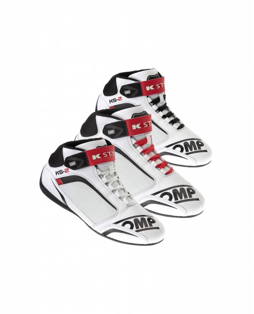 OMP KS-2  Schuhe Weiß Schwarz Rot