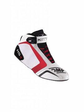 OMP KS-1 Chaussures Blanc Noir Rouge