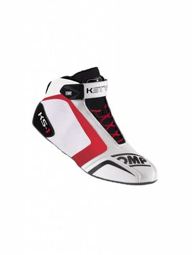 OMP KS-1 Shoes White Black Red