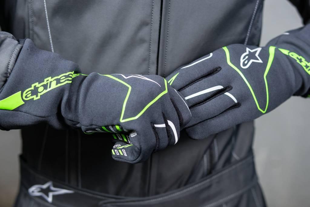 Alpinestars Tech 1-K Race Gloves Anthracite/Vert