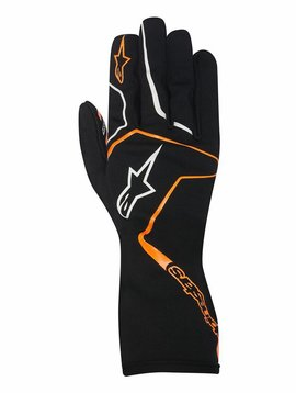 Alpinestars Tech 1-K Race Gloves Black/Orange Fluo