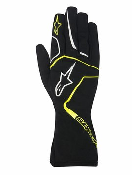 Alpinestars Tech 1-K Race Gloves Black/Yellow Fluo