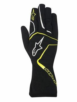 Alpinestars Tech 1-K Race Gloves Schwarz/Fluo Gelb
