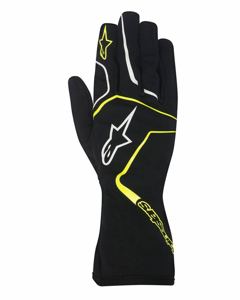 Alpinestars Tech 1-K Race Gloves Zwart/Fluo Geel