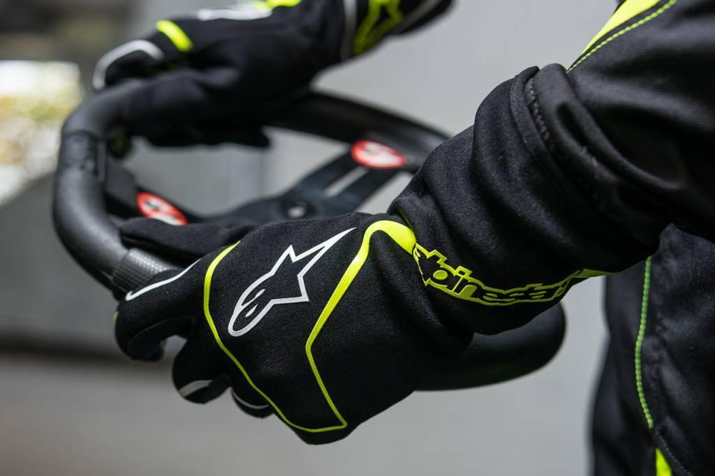 Alpinestars Tech 1-K Race Gloves Noir/Jaune Fluo