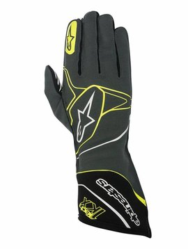 Alpinestars Tech-1 KX Gloves Anthracite/Black/Yellow Fluo