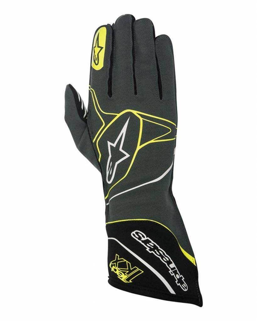 Alpinestars Tech-1 KX Gloves Anthracite/Zwart/Fluo Geel