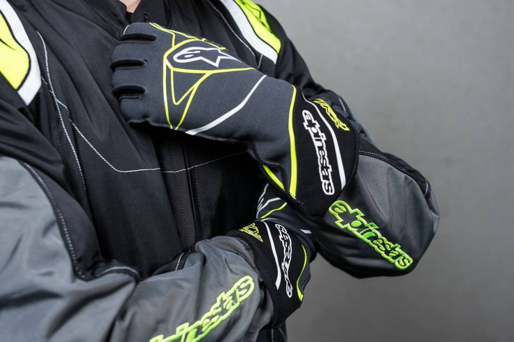 Alpinestars Tech-1 KX Gloves Anthrazit/Schwarz/Fluo Gelb