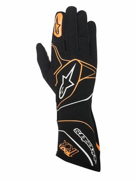 Alpinestars Tech-1 KX Gloves Black/Orange Fluo