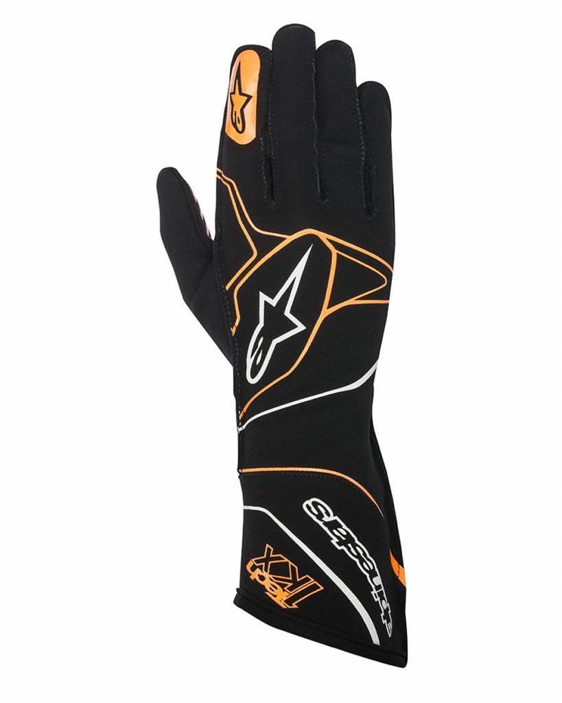 Alpinestars Tech-1 KX Gloves Black/Orange Fluo