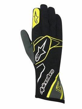 Alpinestars Tech 1-K Gloves Schwarz/Anthrazit/Fluo Gelb