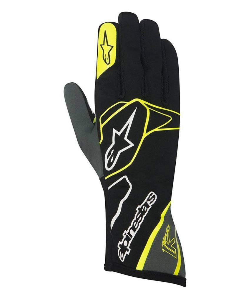 Alpinestars Tech 1-K Gloves Zwart/Anthracite/Fluo Geel