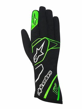 Alpinestars Tech 1-K Gloves Black/Green Fluo