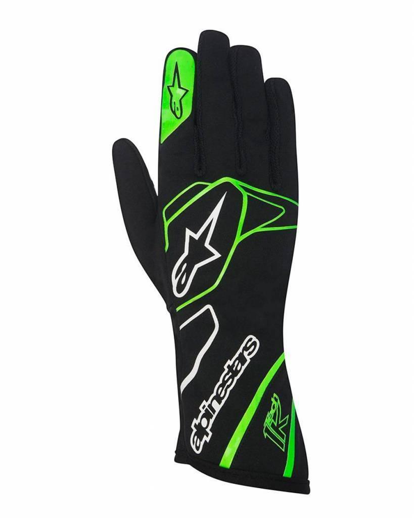 Alpinestars Tech 1-K Gloves Black/Green Fluo