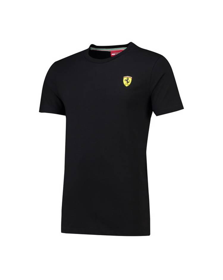 Ferrari Ferrari Mens Classic Crew Neck Tee - Zwart