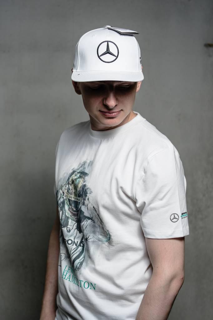 Mercedes Mercedes Drivers Cap Hamilton (Flat)  Wit