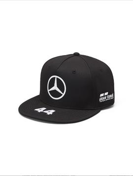 Mercedes Drivers Cap Hamilton (Flat) 2019 - Schwarz