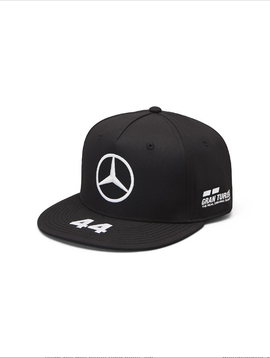 Mercedes Drivers Cap Hamilton (Flat) 2019 - Zwart